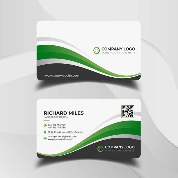 Modern business card design template Premium Vector