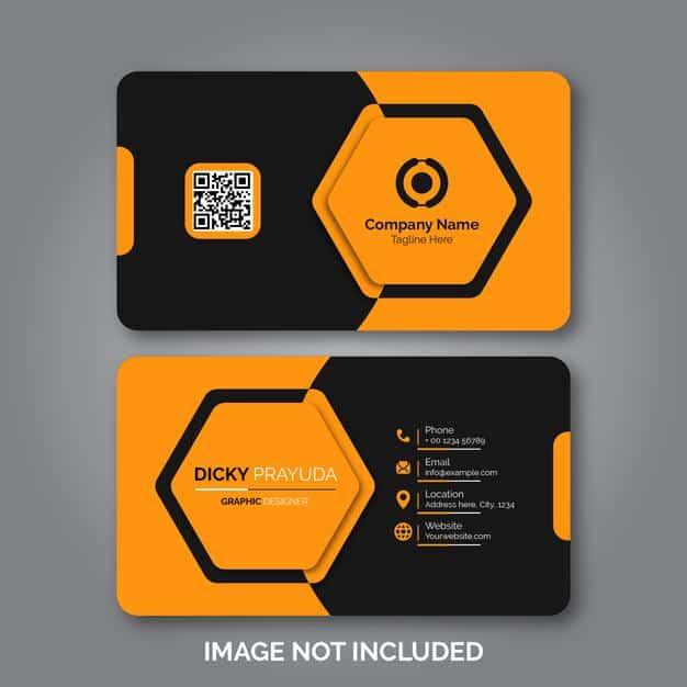 Set of modern professional business card Premium Vector