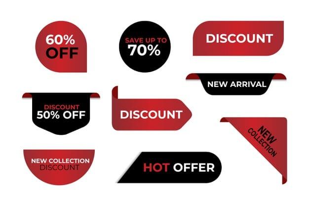 Special sales label collection Premium Vector