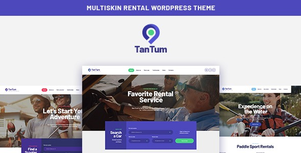 TanTum v1.1.1 NULLED - Car Scooter Boat & Bike Rental Services WordPress Theme