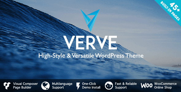 Verve v5.0.1 NULLED - Stylish WordPress Theme