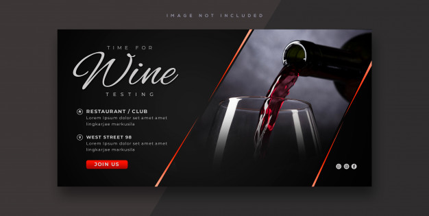 Wine tasting banner template Premium Psd