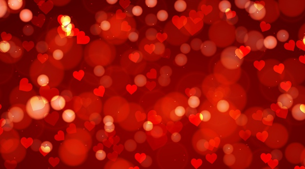 Blurred valentine's day background Vector