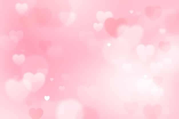 Blurred valentine's day wallpaper Free Vector
