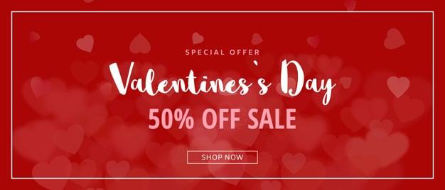 Creative valentines sale mockup Free Psd