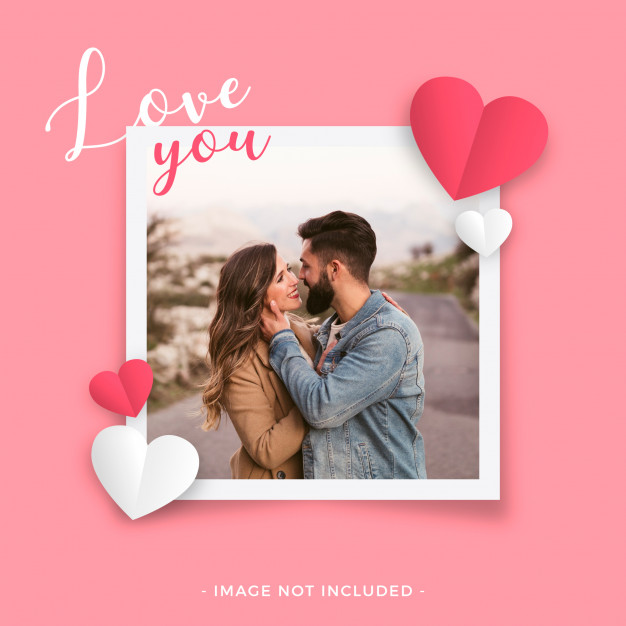 Love frame for valentine's day Vector
