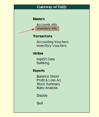 Tally Inventory - How to Maintain Stock Categories