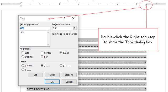 Double click the right tab