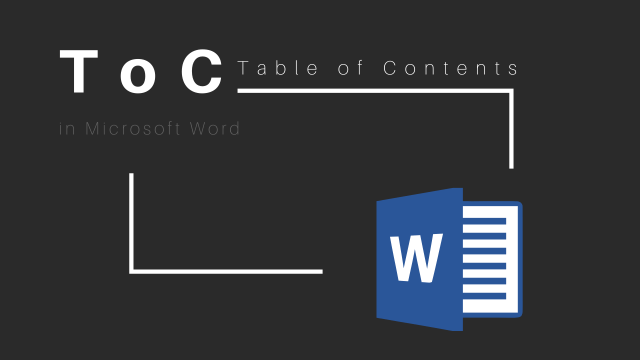 make table of content in Word
