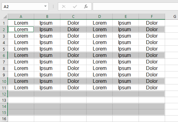 All the blank rows will be deleted