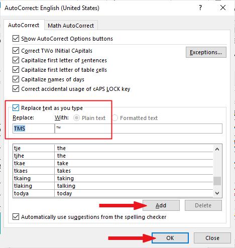 creating your own custom tm symbol shortcut