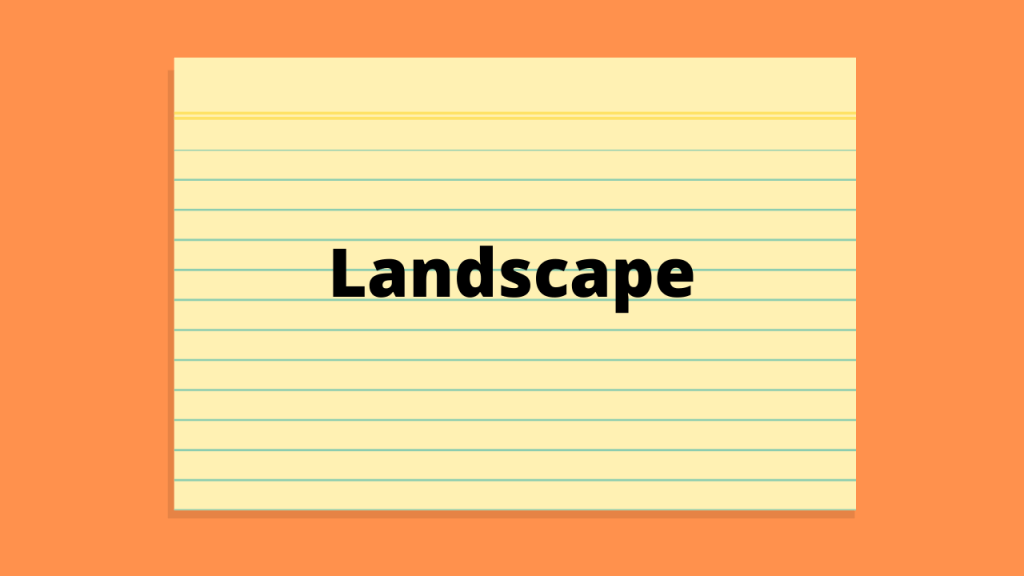 How to make a Word document landscape