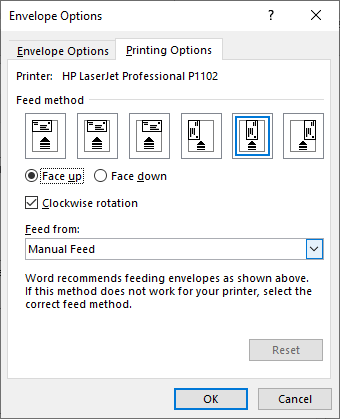 specify the feed method