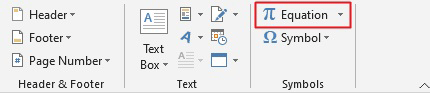 use equation to make fraction in Word