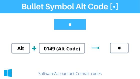Bullet alt code