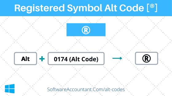 Registered Symbol Alt Code