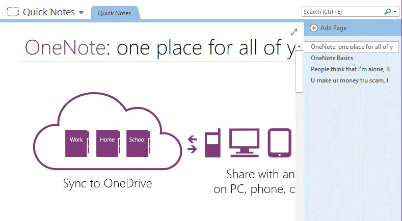 copy text from image wtih OneNote