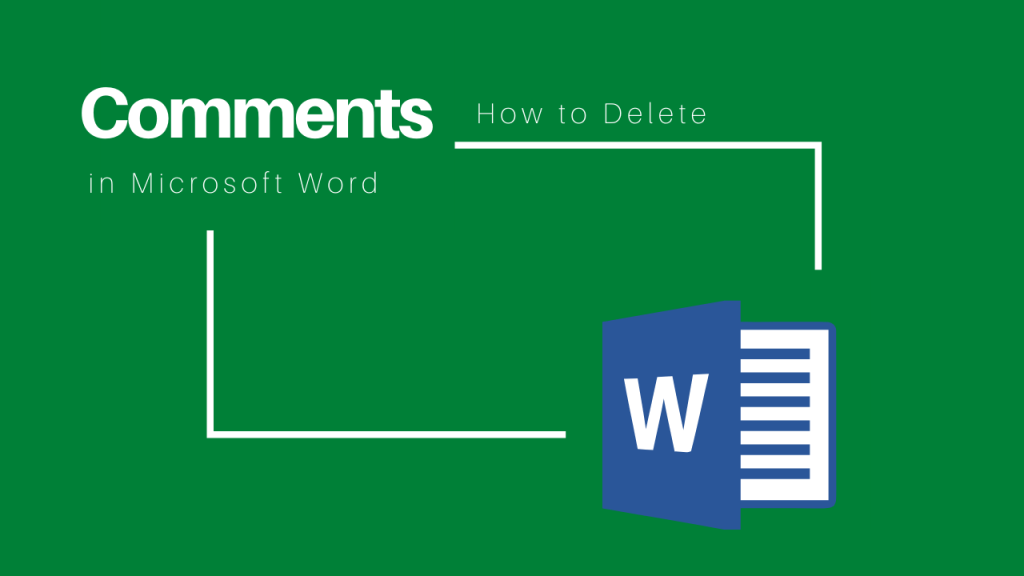 how to delete comment in Word