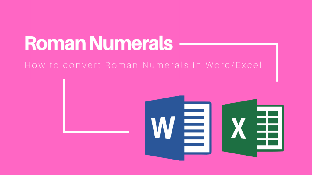 how to convert roman numerals
