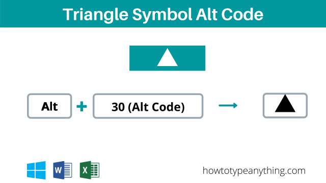 triangle symbol alt code