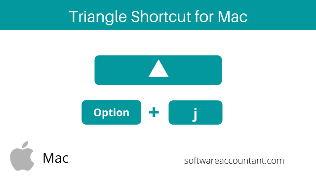 triangle symbol shortcut for Mac