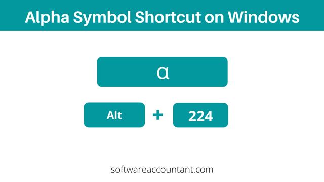 alpha symbol shortcut