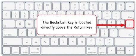 Backslash key on Mac keyboard