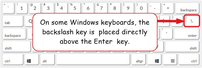 Backslash key on Windows keyboard