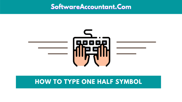 how to type half symbol in Word or Excel