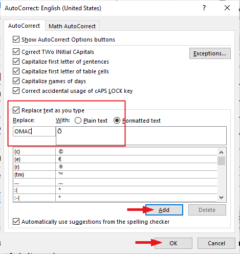 Creating a custom O Macron Shortcut