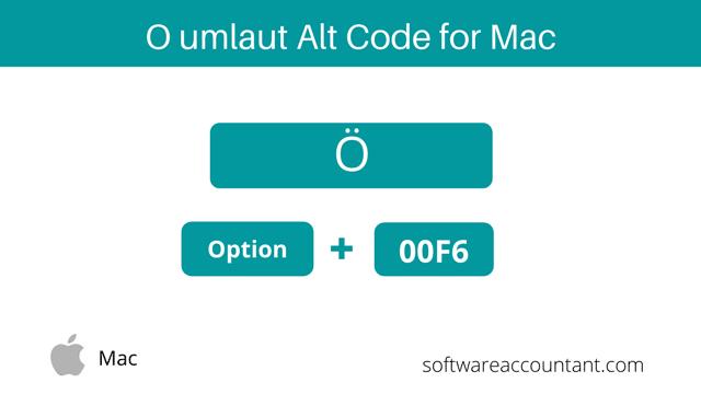 o umlaut shortcut Mac