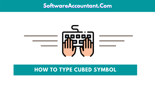How to type the Cubed symbol on Keyboard
