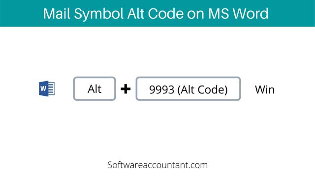 Mail or Envelope symbol alt code for Word