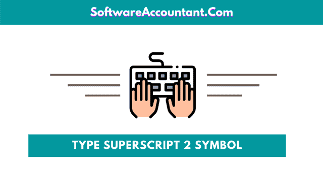 How to insert or type superscript 2 in Word