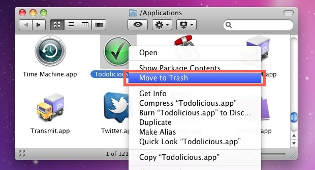 how to uninstall software on mac