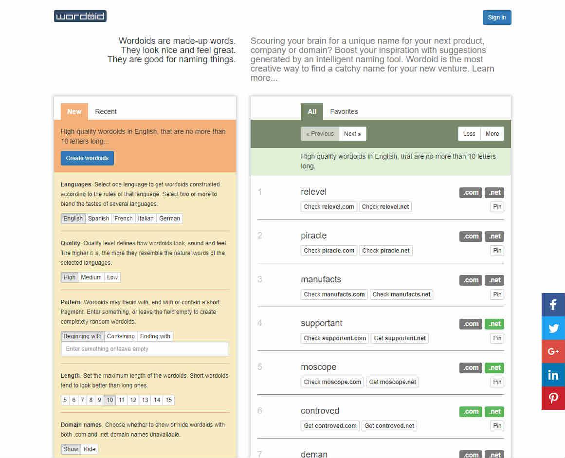 Software Tool Name Generator