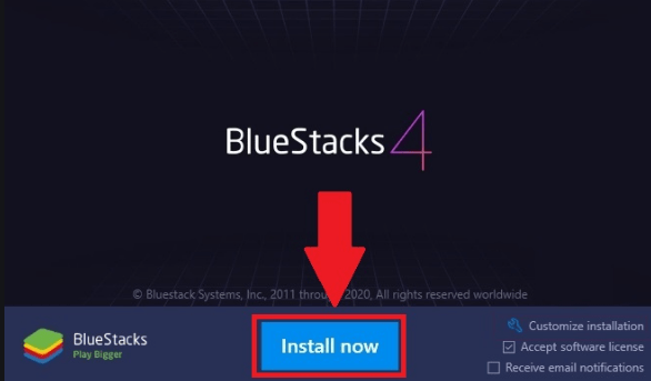 PC Using BlueStacks