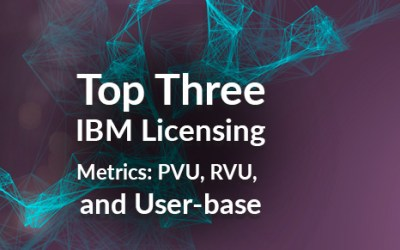Top Three IBM Licensing Metrics: PVU, RVU, and User-based