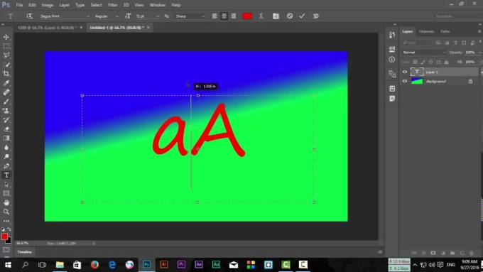 Adobe Photoshop CC 2017 gradient image