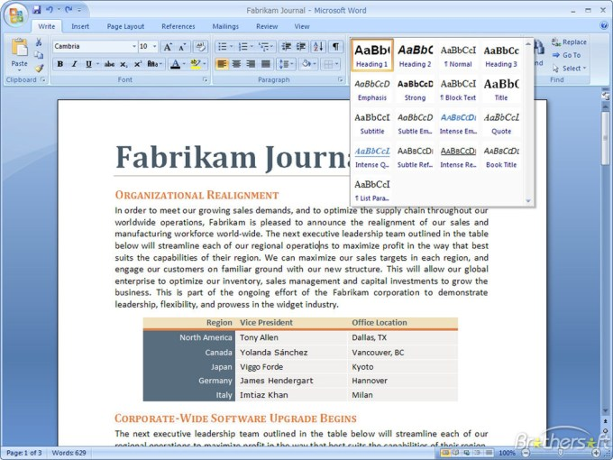 Microsoft Office 2007 Enterprise free download for PC