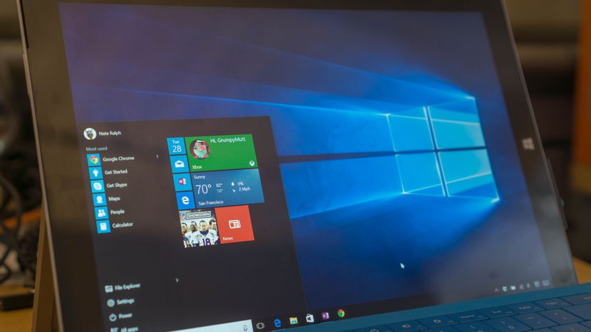 Windows 10 laptop preview