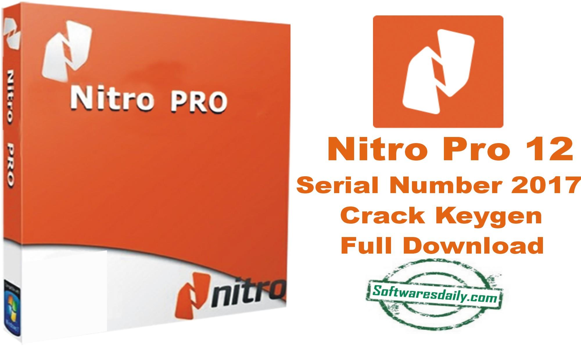 nitro pdf serial number