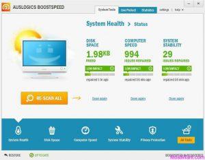 Auslogics BoostSpeed 9.1 Crack + License Key Download