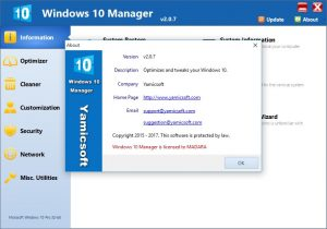 Windows 10 Manager Crack 2017 Full Serial Key Generator