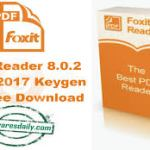 Foxit Reader 8.0.2 Crack 2017 Keygen Full Free Download