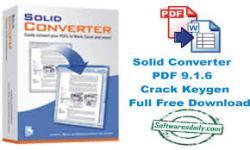 Solid Converter PDF 9.1.6 Crack Keygen Full Free Download