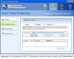 Spyware Terminator 2017 Premium License Key Crack Full Download