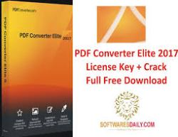PDF Converter Elite 2017 License Key + Crack Full Free Download