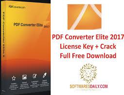 PDF Converter Elite 2017 License Key + Crack Full Free Download