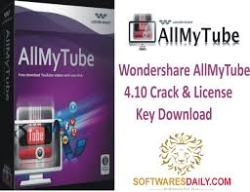 Wondershare AllMyTube 4.10 Crack & License Key Download
